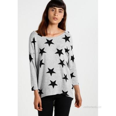ONLY ONLELCOS Jumper light grey melange/black/mottled light grey