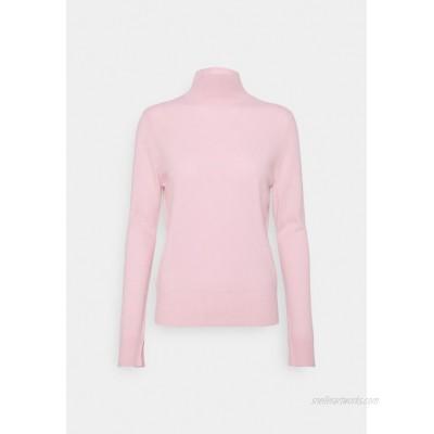 pure cashmere SIMPLE HIGH NECK Jumper light pink/pink