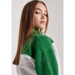 Superdry DOLMAN 1/4 Sweatshirt galvinised green/green