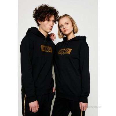HUGO DAISUKE METALLIC UNISEX Hoodie black/gold/black