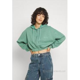 BDG Urban Outfitters SUPER CROP ZIP HOODIE Zipup sweatshirt green