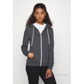 Even&Odd Regular Fit Zip Sweat Jacket Contrast Cord Zipup sweatshirt mottled dark grey