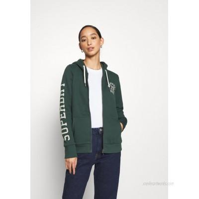 Superdry CLASSIC ZIPHOOD Zipup sweatshirt enamel green/green