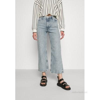 Monki YOKO CROPPED Straight leg jeans blue dusty light/light blue
