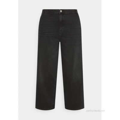 Noisy May Curve NMBROOKE  Relaxed fit jeans black/black denim