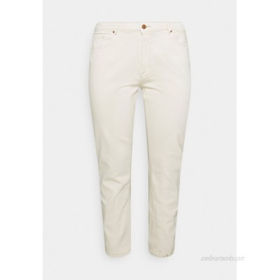 ONLY Carmakoma CARENEDA MOM Relaxed fit jeans ecru/white denim
