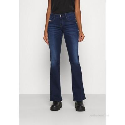 Diesel DEBBEY Flared Jeans dark blue/darkblue denim