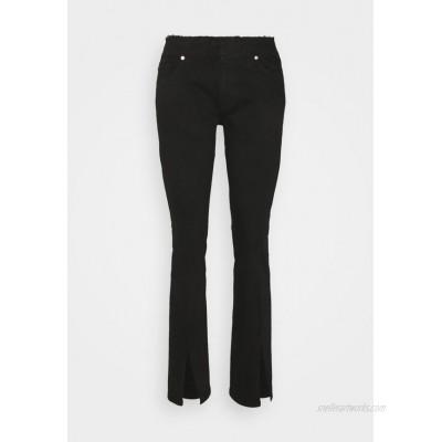 Frame Denim LE PIXIE CUT OFF WAIST MINI SLIT Bootcut jeans black