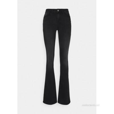 Noisy May Tall NMMARLI Flared Jeans black