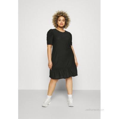 ONLY Carmakoma CARDIDDE PUFF KNEE DRESS Day dress black