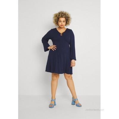 Simply Be O RING SKATER DRESS Day dress navy/dark blue