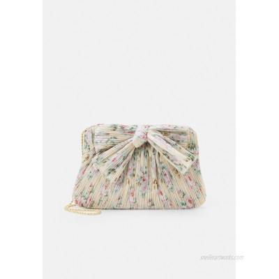 Loeffler Randall PLEATED FRAME CLUTCH WITH BOW Clutch tan/offwhite
