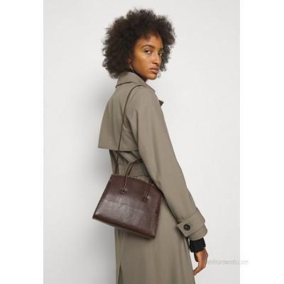 Little Liffner MINIMAL MINI TOTE Handbag dark brown/brown