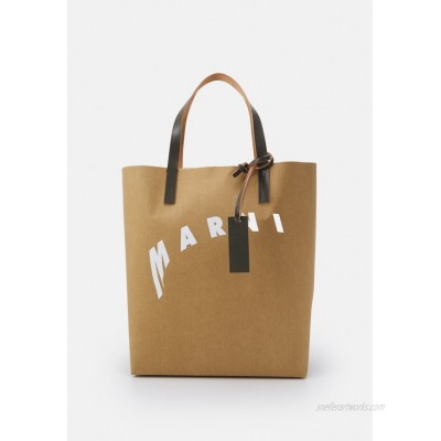Marni SHOPPING BAG Tote bag cement/natural white/thyme/beige