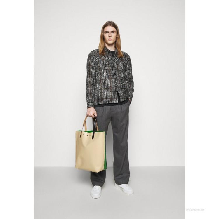 Marni UNISEX Tote bag soft beige/garden green/black/beige