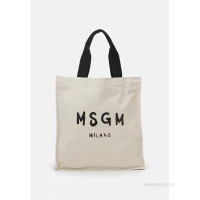 MSGM SHOPPING PAINT BRUSHED LOGO Tote bag beige/offwhite