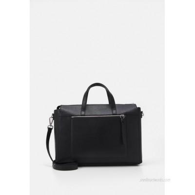 Zign LEATHER Laptop bag black