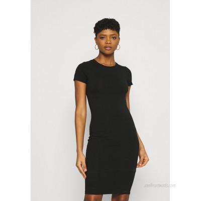 Cotton On ESENTIAL SHORT SLEEVE BODYCON MIDI DRESS Shift dress black