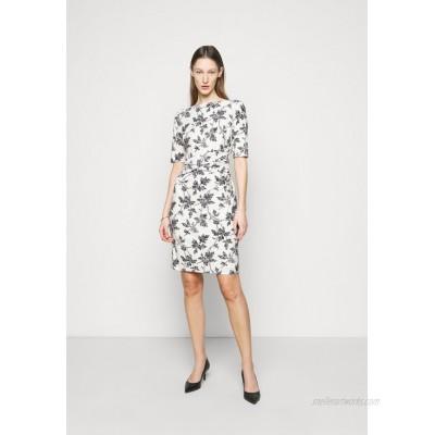 Lauren Ralph Lauren PRINTED MATTE DRESS Jersey dress lemon ivory/offwhite