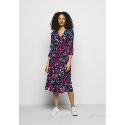 Lauren Ralph Lauren PRINTED MATTE DRESS Jersey dress navy/aruba pin/dark blue