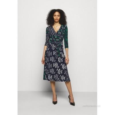 Lauren Ralph Lauren PRINTED MATTE DRESS Jersey dress navy/dark blue