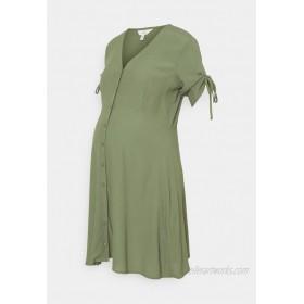 Ripe MAE BUTTON THROUGH DRESS Jersey dress khaki