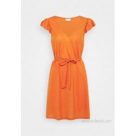 VILA PETITE VIWANDERA V NECK SHORT DRESS Jersey dress burnt ochre/orange
