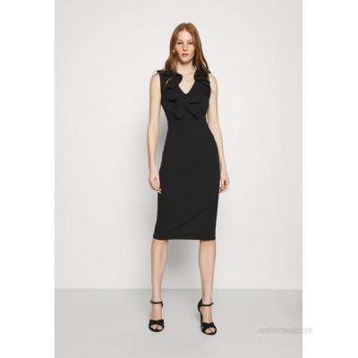 WAL G. KIRA RUFFLE NECK MIDI DRESS Jersey dress black