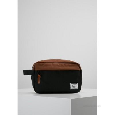 Herschel CHAPTER Wash bag black/saddle brown/black