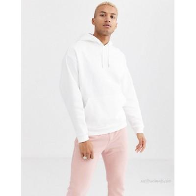 DESIGN organic oversized hoodie in white