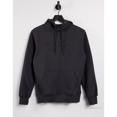 Nicce embroidered logo mercury hoodie in coal
