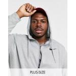 Nike Training Plus Dry zip thru hoodie in grey