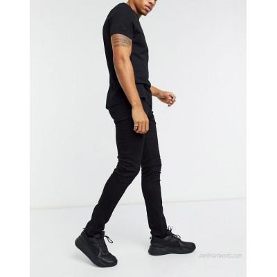 DESIGN skinny jeans in black