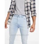 DESIGN skinny jeans in light wash blue