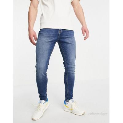 Jack & Jones Intelligence Pete carrot fit jeans in dark blue