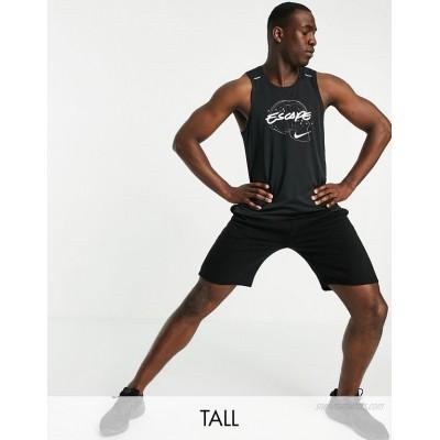Nike Running Tall Wild Run Escape Miler vest in black