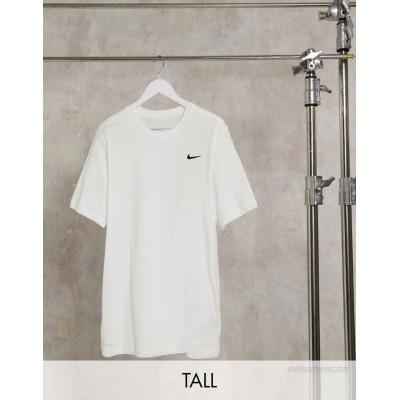Nike Training Tall swoosh logo essential t-shirt in white