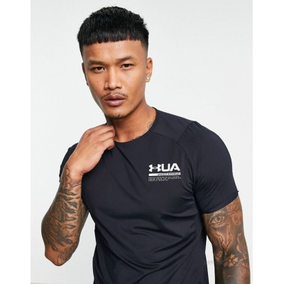 Under Armour Training Iso-Chill HeatGear base layer perforated t-shirt in black