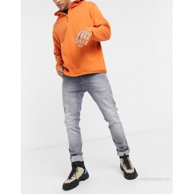 Jack & Jones Intelligence Glenn super stretch slim tapered jean in lightwash grey