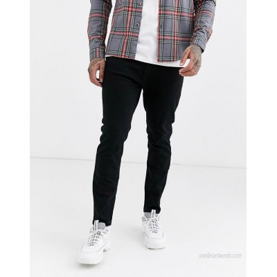 Pull&Bear Join Life tapered carrot fit jeans in black