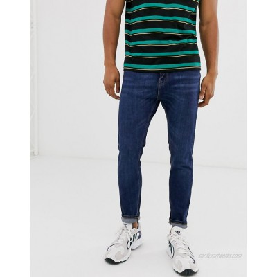 Pull&Bear Join Life tapered carrot fit jeans with in dark blue