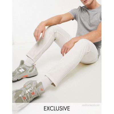 Reclaimed Vintage The '89 tapered jean in ecru