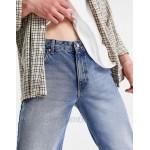 DESIGN classic rigid jeans in vintage mid wash blue