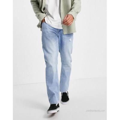 DESIGN original fit jeans in vintage light wash with abrasions