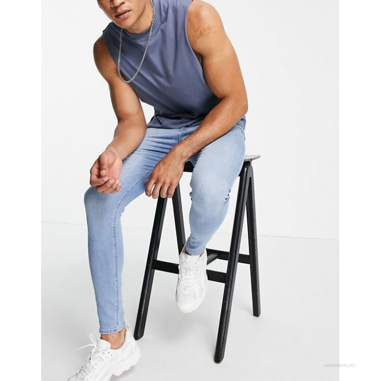 DESIGN spray on jeans with power stretch in light wash