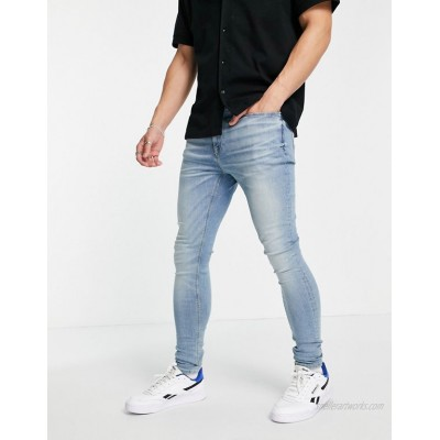River Island spray on jeans in light blue