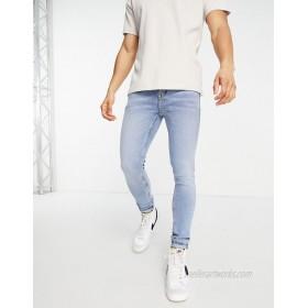 Topman organic cotton spray on jeans in light wash