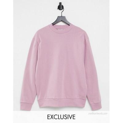 COLLUSION Unisex sweatshirt in pink