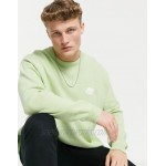 DESIGN knitted sweater with embroidered cloud in sage green