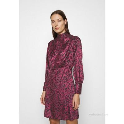Closet BOW DRESS Cocktail dress / Party dress maroon/brown